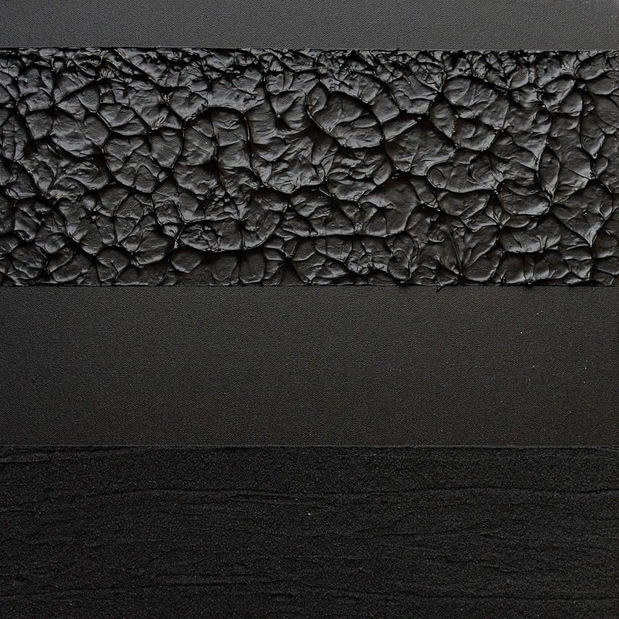 Zwart minimalistisch handgeschilderd kunstwerk