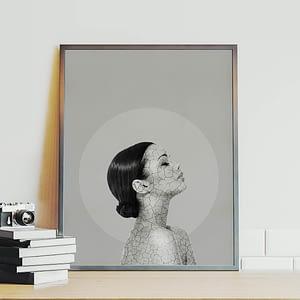 The Cracks in my Facade - Surrealistische Poster en Print