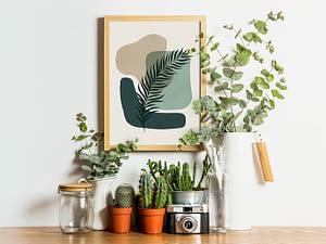 Groene Botanische poster en print