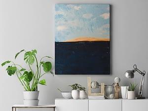 abstracte zee schilderij Zeezicht Abstract Schilderij