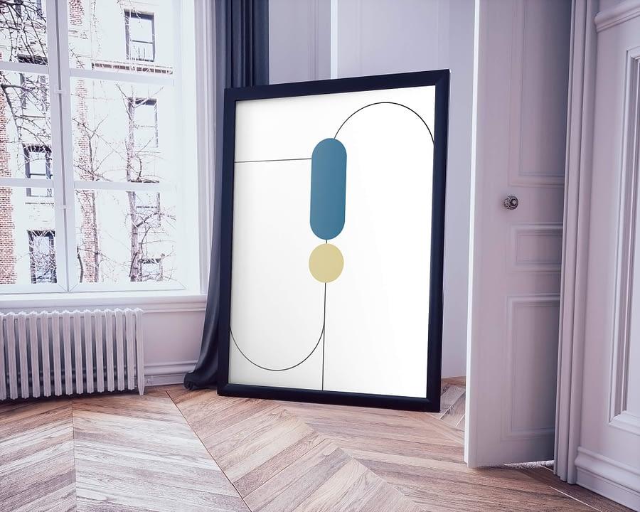 Abstract Geometry Poster - Geometrische Wanddecoratie