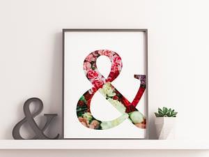 Ampersand Floral Poster