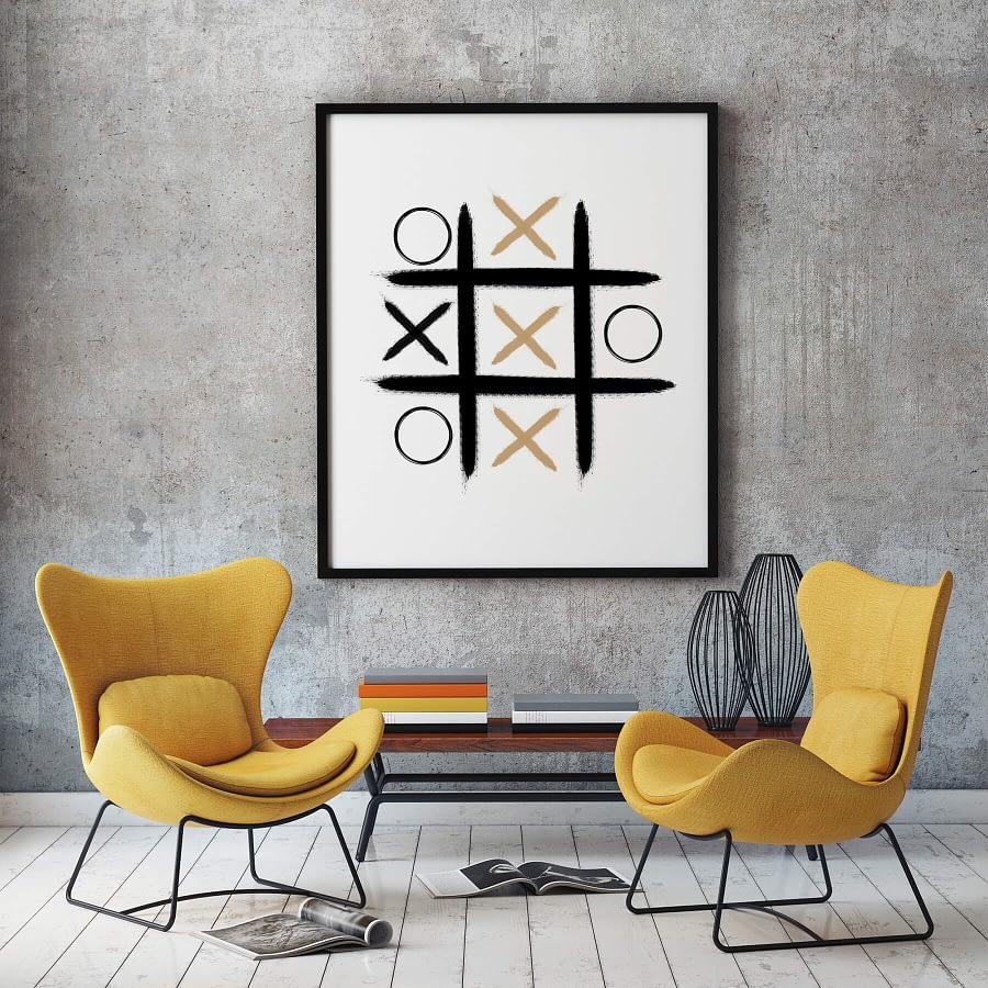 Boter Kaas En Eieren Poster - Abstracte Wanddecoratie