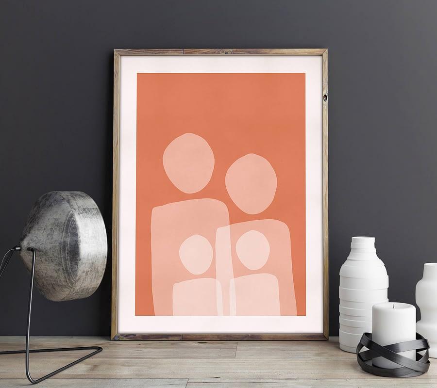Familieportret - abstracte poster en print