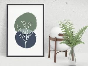 Abstracte Botanische Scandinavische Poster
