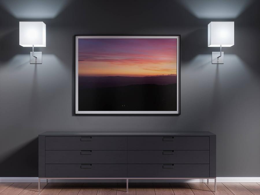 italie toscane zonsondergang poster
