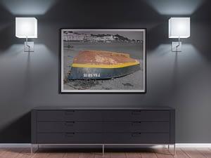 Boot Op Het Strand print - Moderne wanddecoratie