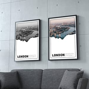 London Silhouette Poster