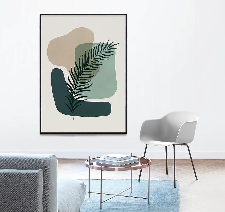 Abstract Botanical - Abstracte Botanische Poster en Print
