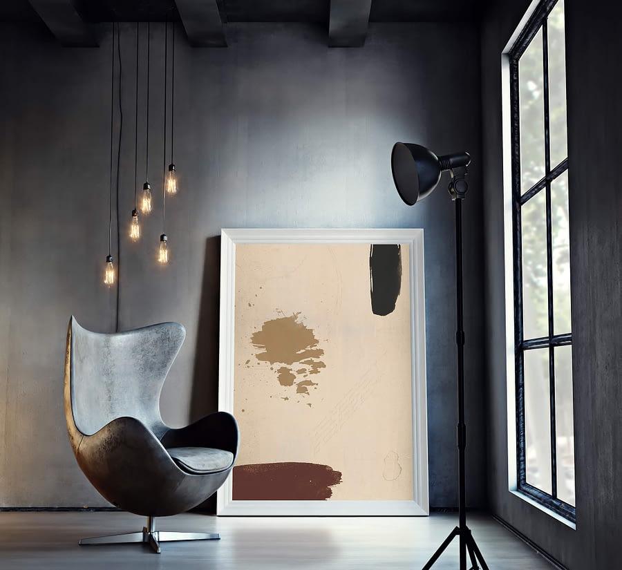 abstract kunstwerk van mdrn home