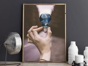 Trapped - Surrealistische Poster en Canvas Print