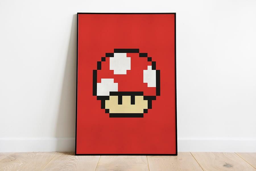 Retro pixel art Mario games