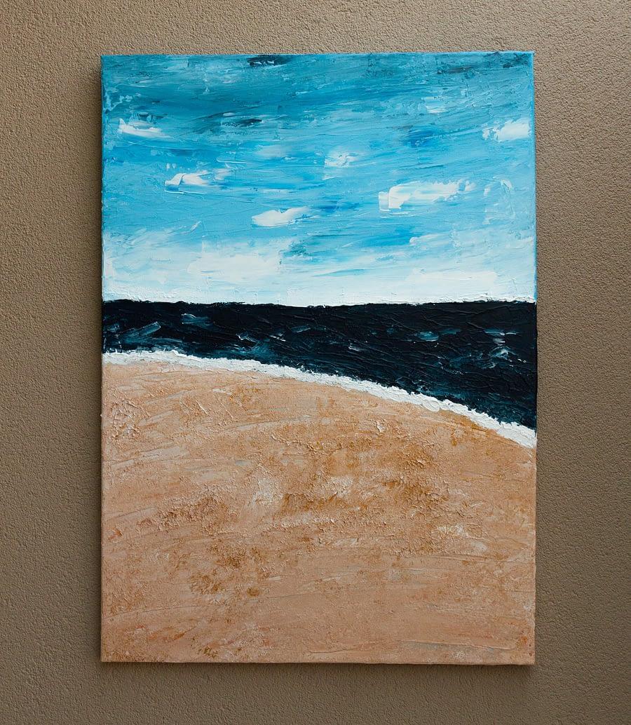 Abstract Schilderij van een strand