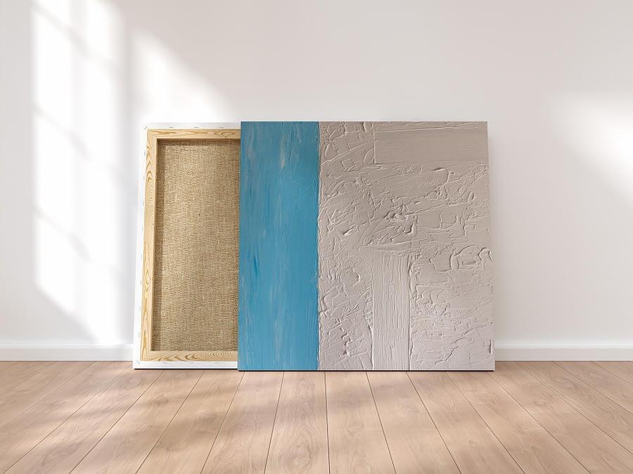 Abstract schilderij met structuur