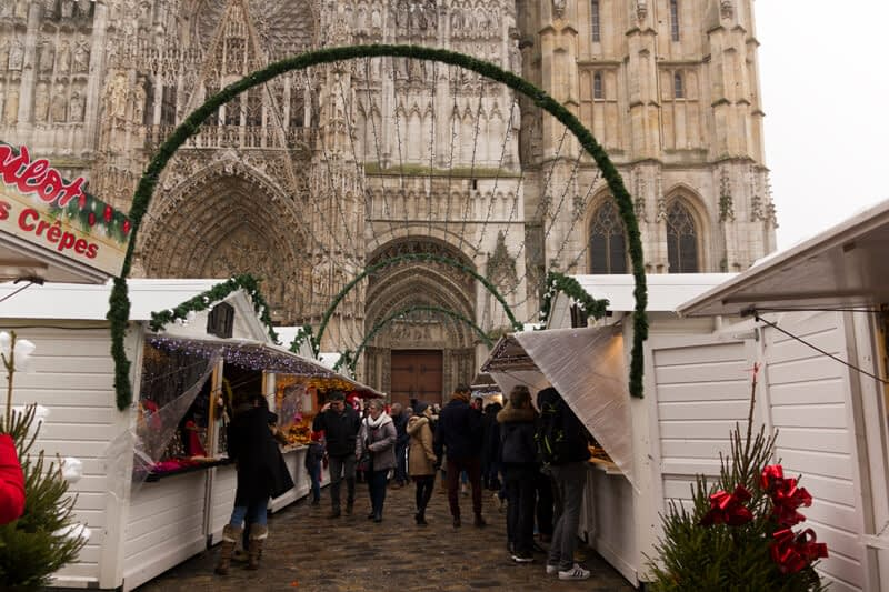 De kerstmarkt in Rouen