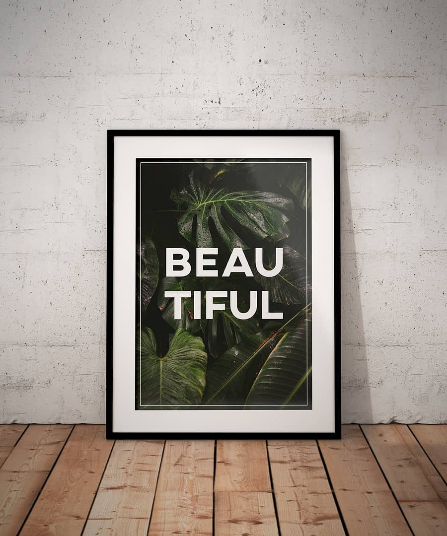Beautiful - Botanische Poster Print | MDRN HOME