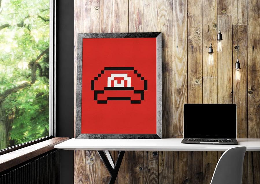 abstracte kunst met pixel art