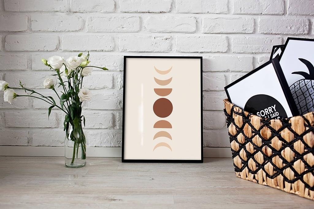 Maan fases Poster - Scandinavische Wanddecoratie