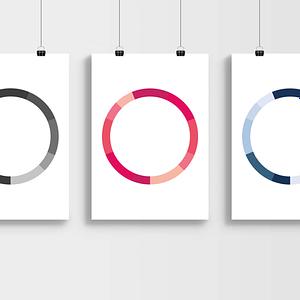 monochromatische kleuren prints