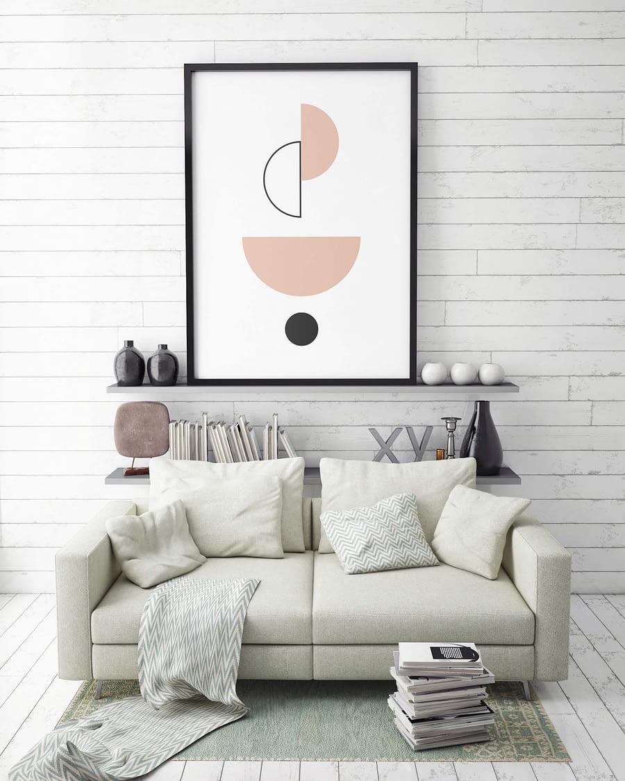 abstract balance geometrische wanddecoratie