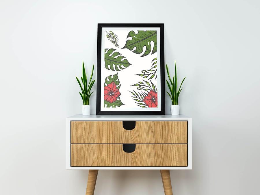 Green Leaves - Botanische Poster