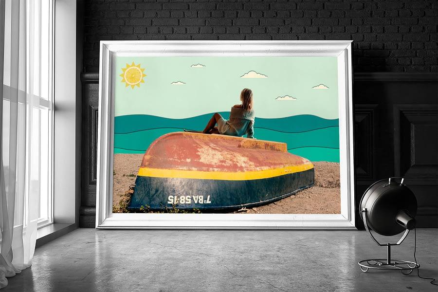 A Day At The Beach - Surrealistische Wanddecoratie