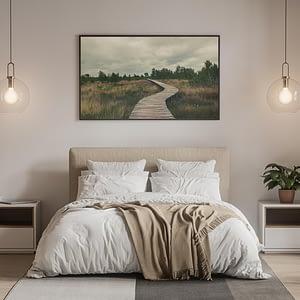 Knuppelbrug - natuur poster en canvas print