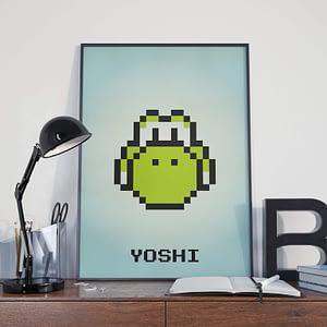 Yoshi pixel art print