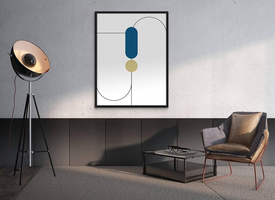 Abstracte Geometrie Poster - Abstracte Wanddecoratie