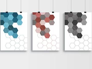 Geometrische Hexagon Poster