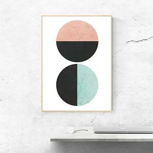 Abstracte Poster Met Cirkels