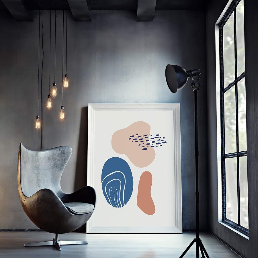 Lente Kleuren Abstracte Vormen Poster