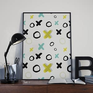 XO kleurrijke print - Abstracte Moderne Poster
