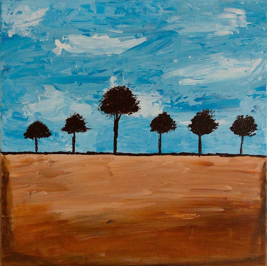 abstract schilderij bomen - Betaalbare moderne kunst