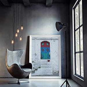 Poster van kleurrijke deur in Ostuni Italie
