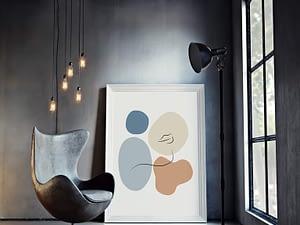 Her - abstracte poster en print