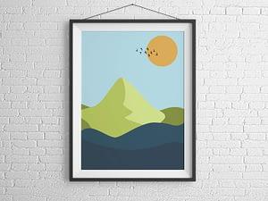 Abstract Landschap Poster