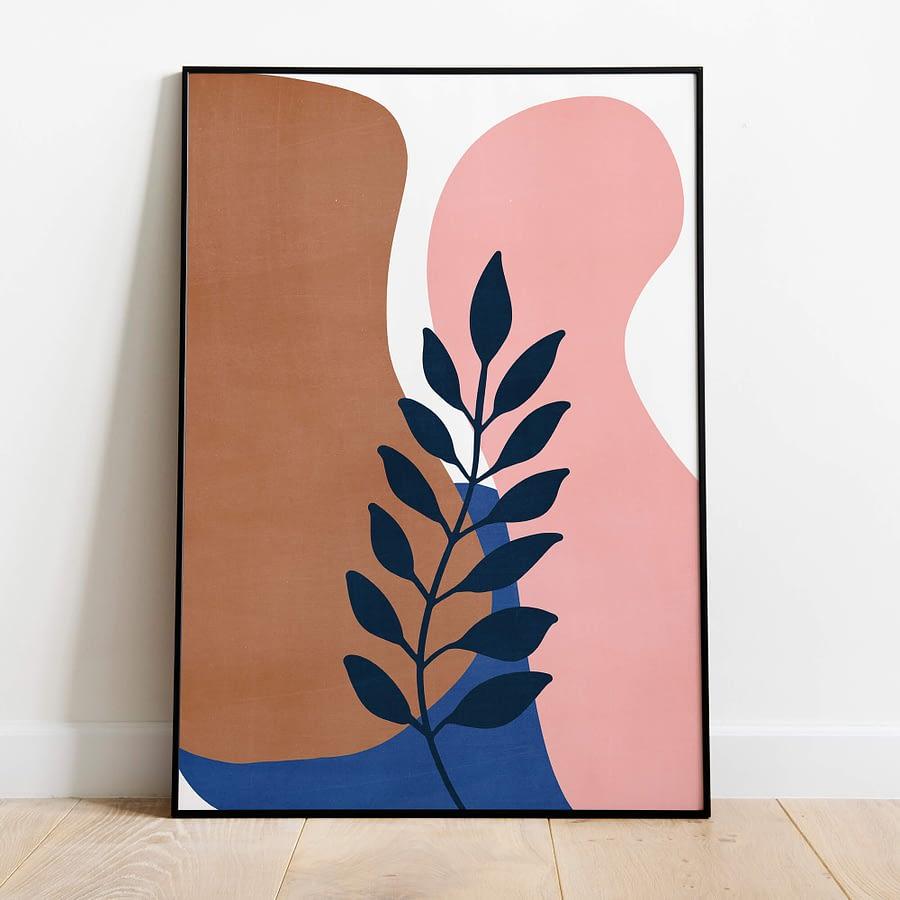 Abstract Floral - Botanische Poster en Canvas Print