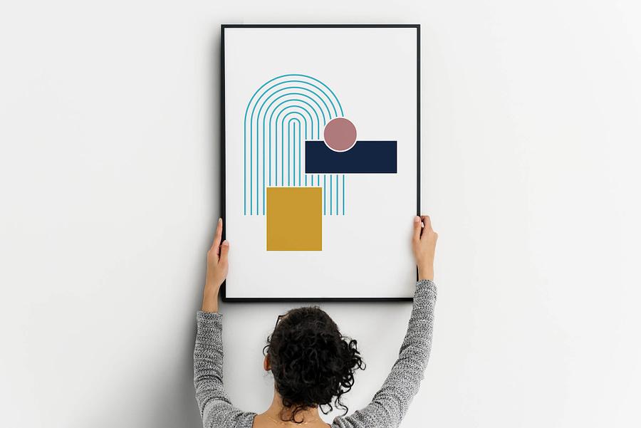Bright Geometry - Geometrische Poster