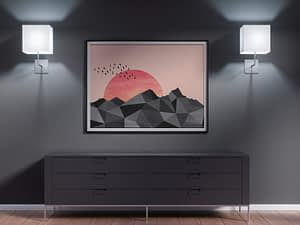 Geometric Mountains Poster