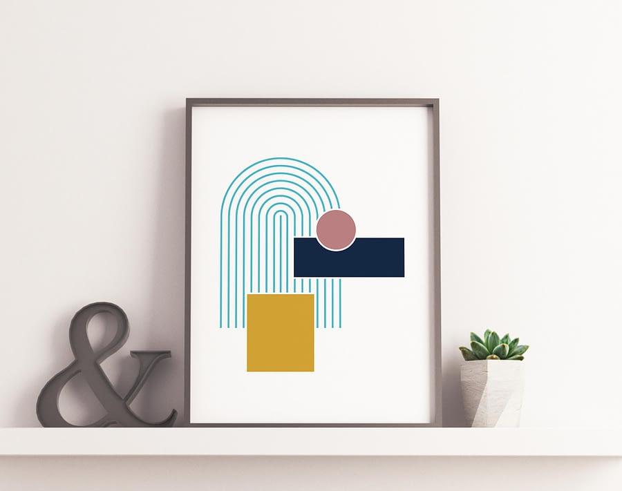 Abstracte Poster - Geometrische Wanddecoratie
