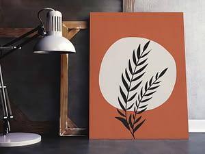minimalistische botanische poster en print