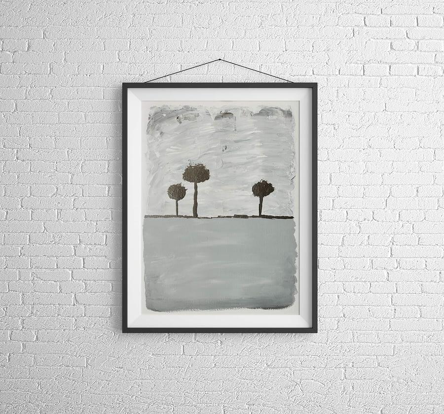 Abstract Trees - Fine Art Papier - Moderne Kunst Online Kopen