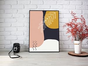 abstract shapes botanische poster