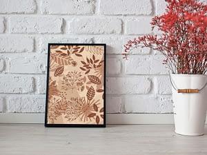 Herfstbladeren Abstracte Poster - Botanische Wanddecoratie