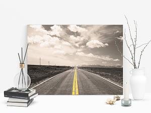 road to the mountains Poster en Print - Reizen Wanddecoratie
