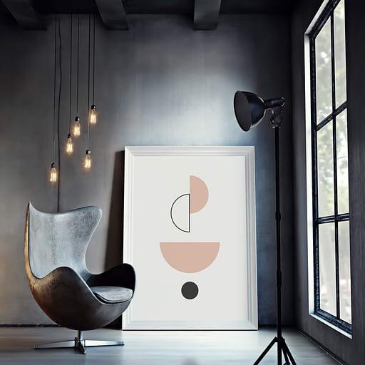 abstracte Scandinavische poster