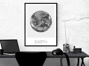 Scandinavische aarde poster en print