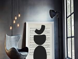 Abstracte Music Minimalistische Muziek Poster en Print