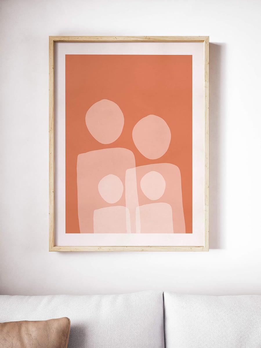 Familieportret - abstracte wanddecoratie